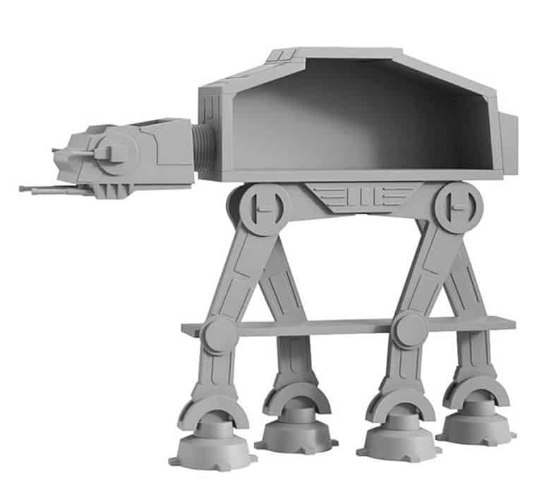 Star Wars AT-AT Bookcase Decoration