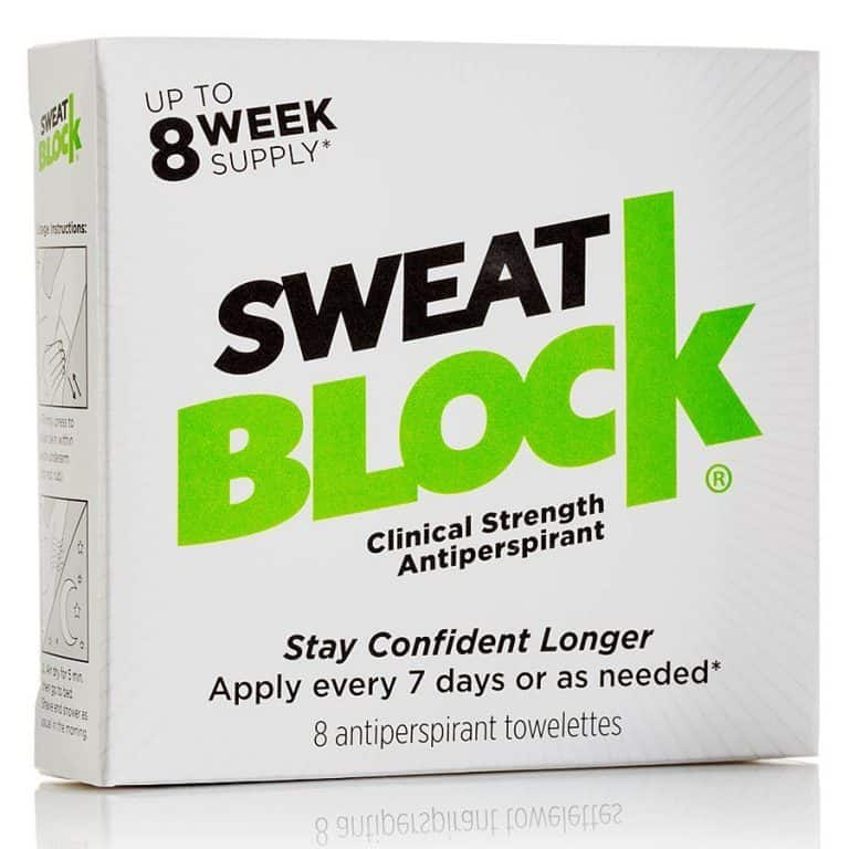 SweatBlock Antiperspirant Towelette Clinical Proven