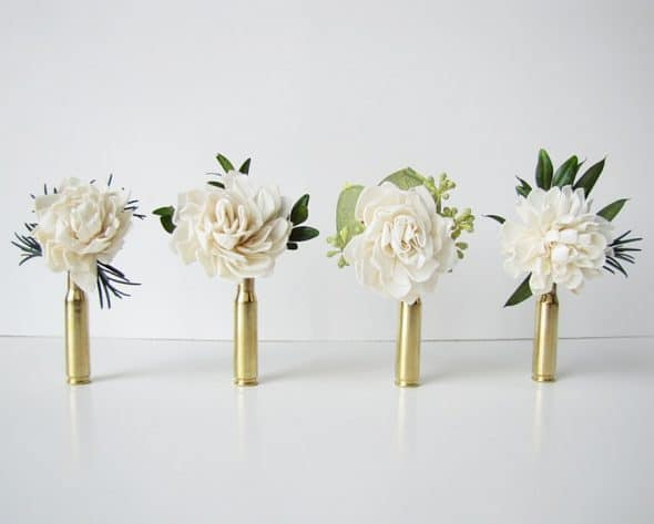 The Backyard Gardener Bullet Shell Boutonniere Wedding Product