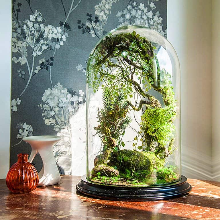 Vert + Sauvage Forest Terrarium Of Artificial Plants Pet Plant