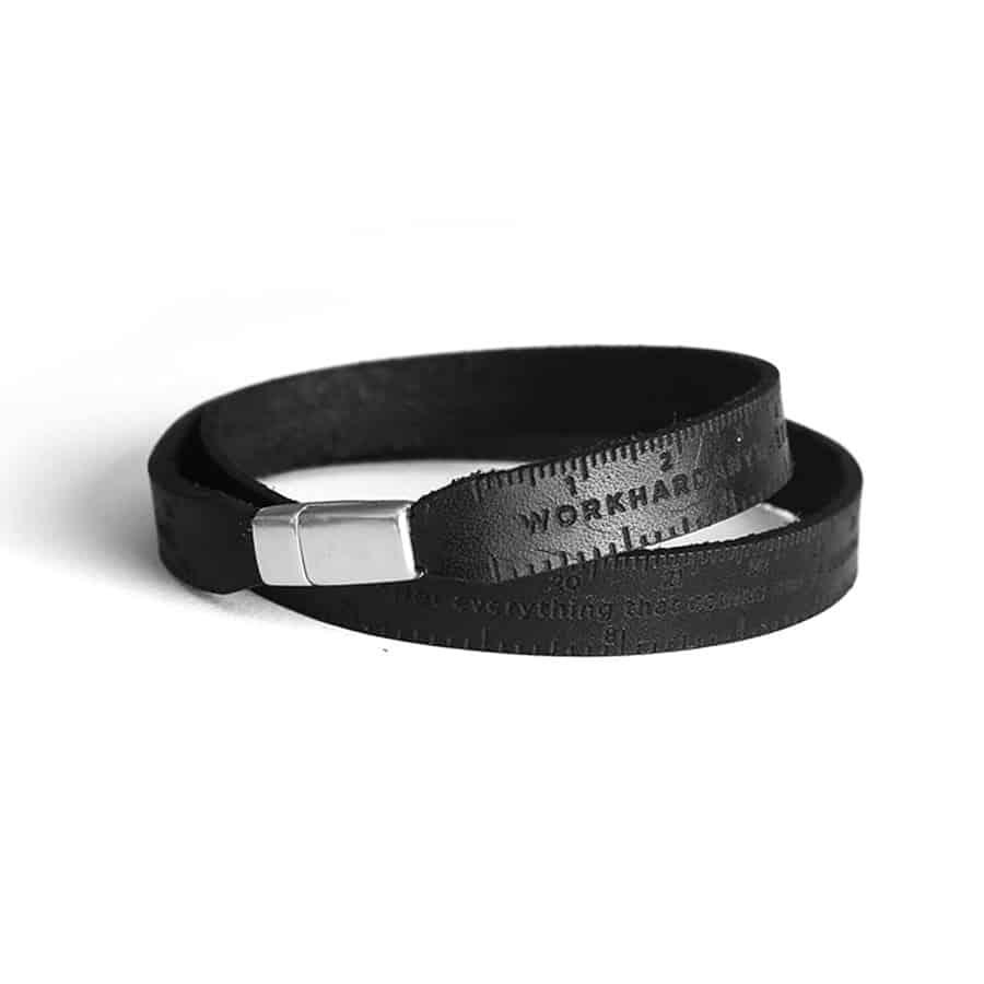 Workhard Anywhere Ruler Bracelet V2 Leather