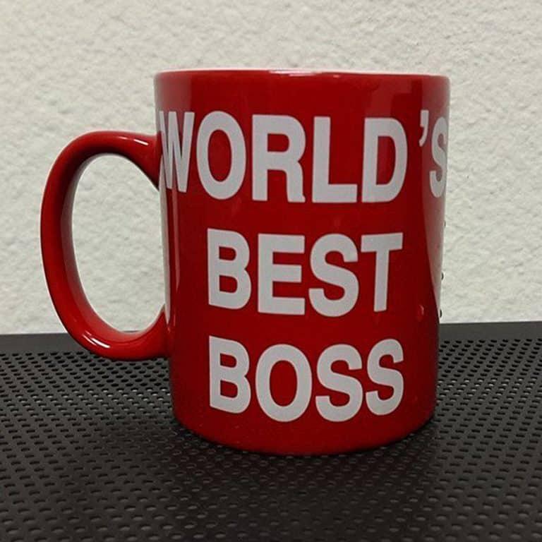 Worlds Best Boss Mug Coffee Cup