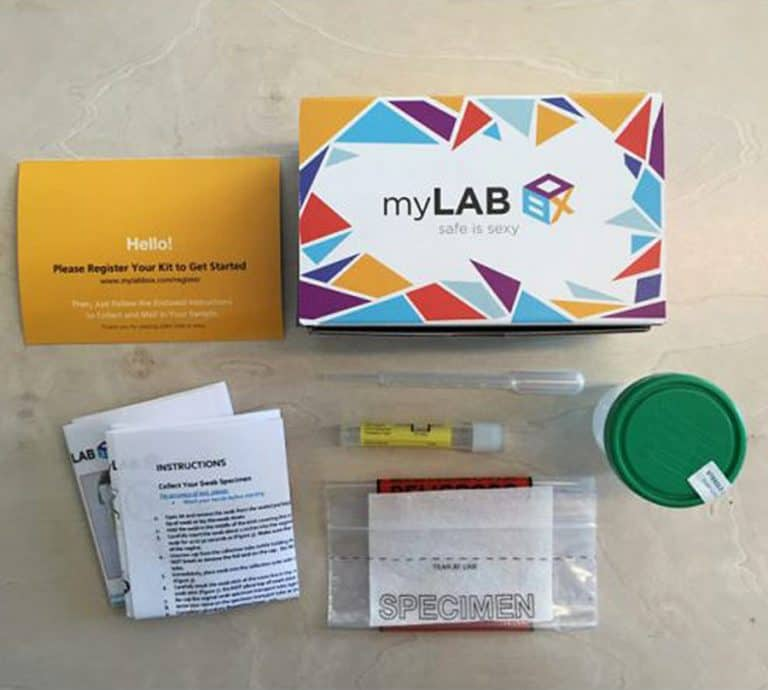 myLAB Box At Home STD Test for Men DIY Kit