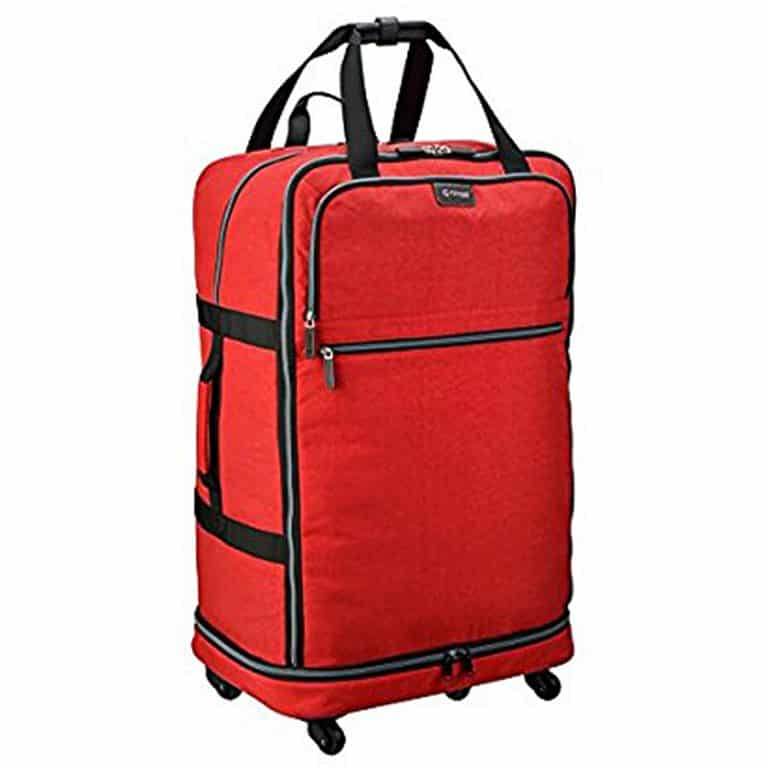 Biaggi Zipsak 4 Wheel Microfold Suitcase High Density Oxford Krinkle Nylon