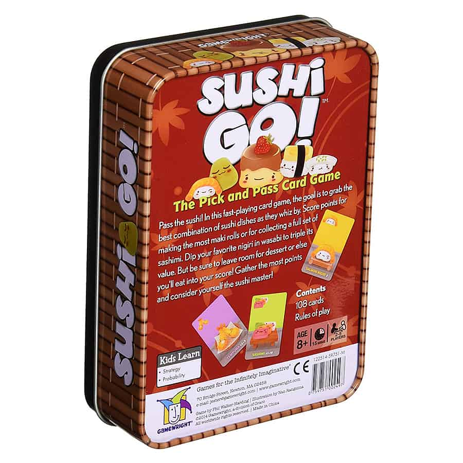 Gamewright Sushi Go! The Pick and Pass Card Game Games