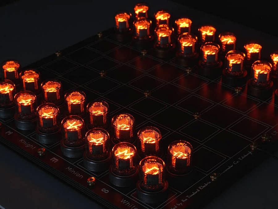 Lasermad Nixie Chessboard Board Game