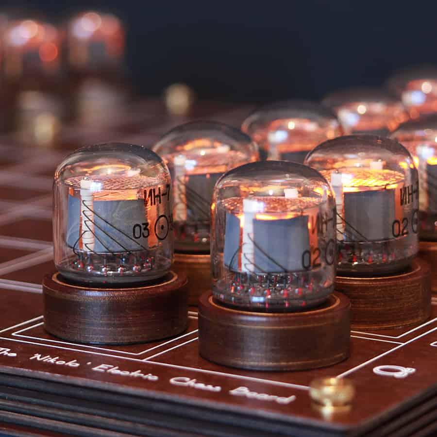 Play chess retro futuristic style.