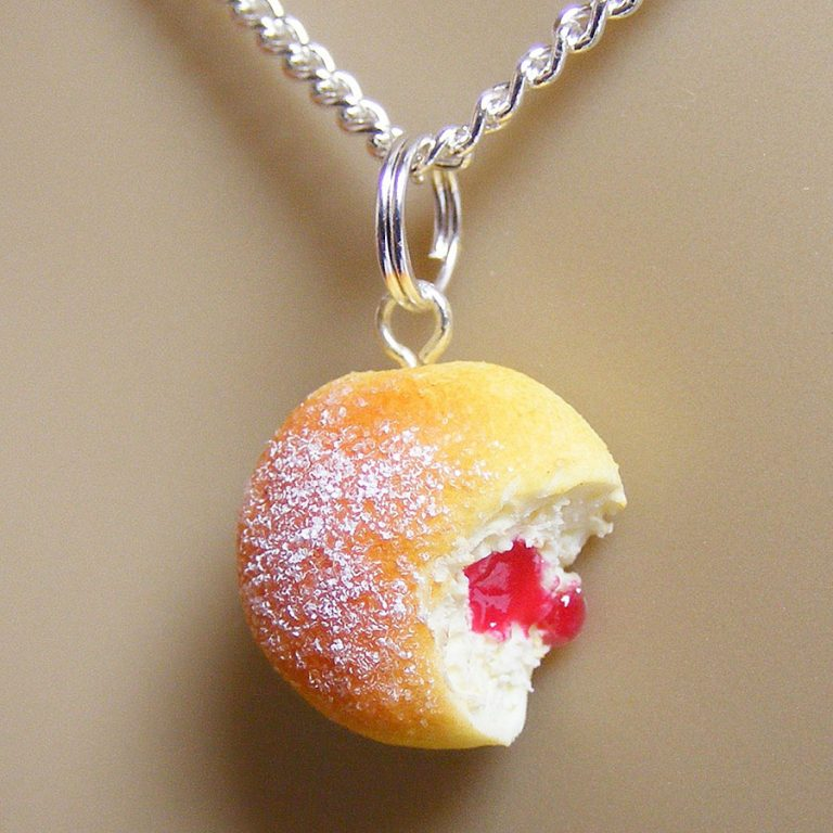 NeatEats Jelly Donut Necklace Fashionable Item