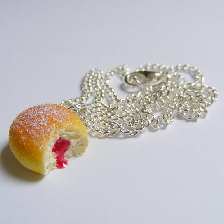 NeatEats Jelly Donut Necklace Pendant