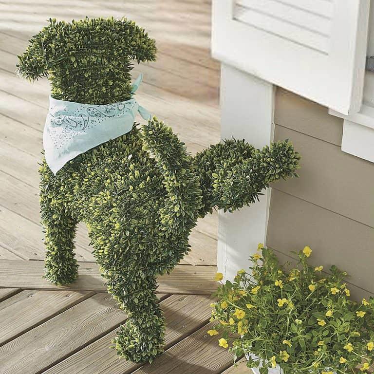 Peabody Faux Boxwood Garden Dog Garden Products