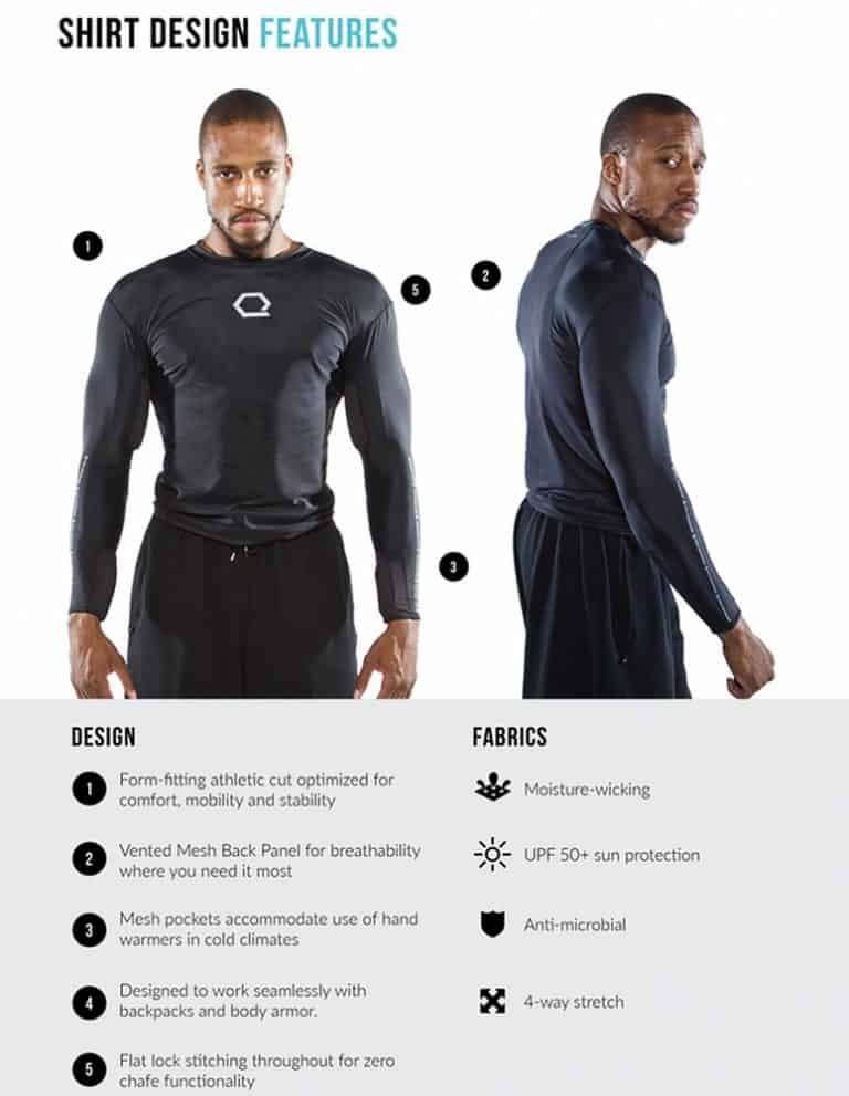 Qore Performance Hydration Shirt Features