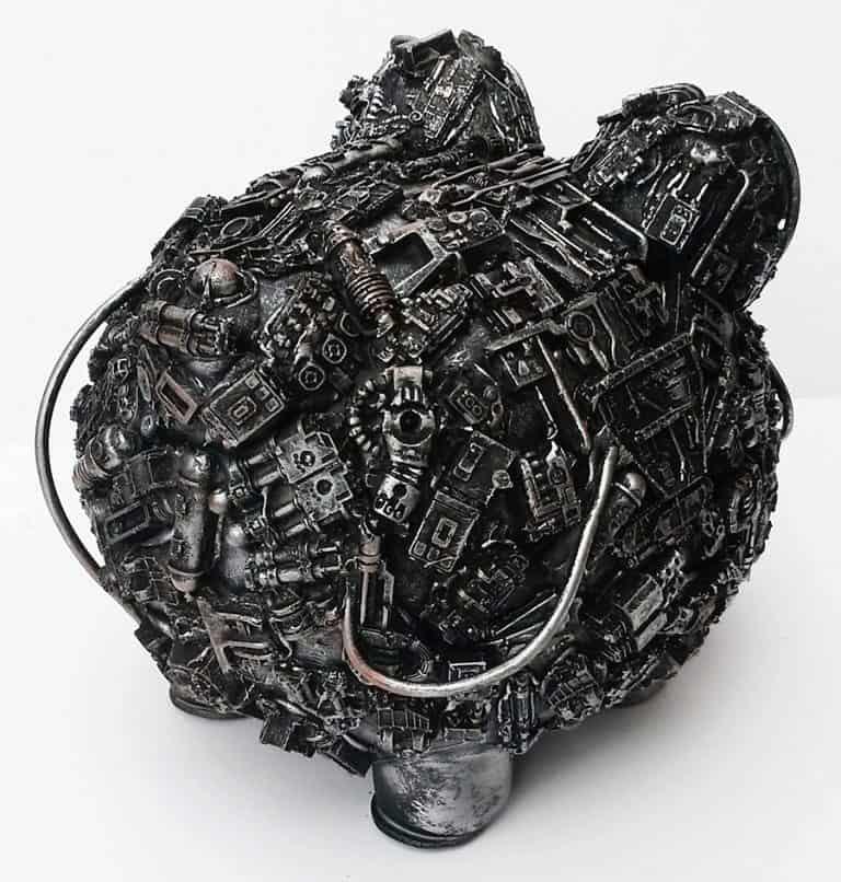 Richard Symons Art Steampunk Piggy Bank Cast Resin