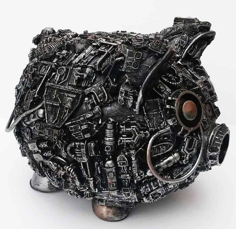 Richard Symons Art Steampunk Piggy Bank Handcrafted Product