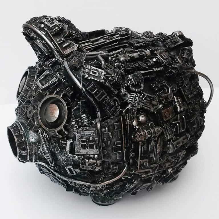 Richard Symons Art Steampunk Piggy Bank Wires