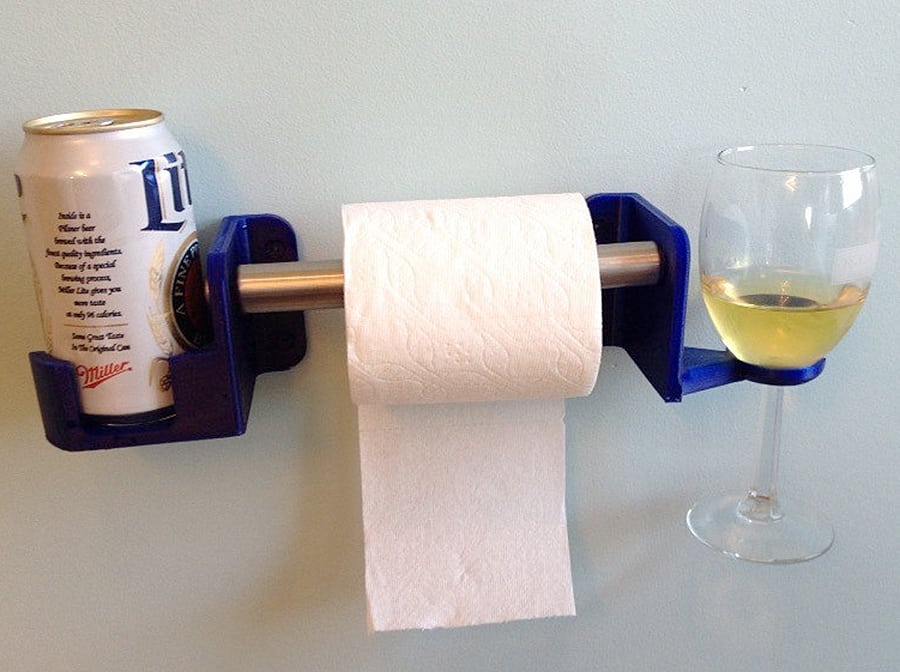 SOLIDink3d His and Hers Toilet Paper Holder - NoveltyStreet