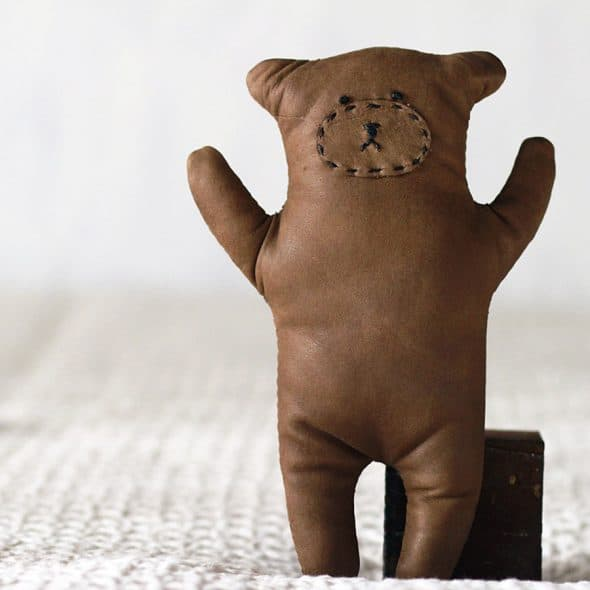 Seki Works Kuma Chan Leather Teddy Bear Toy