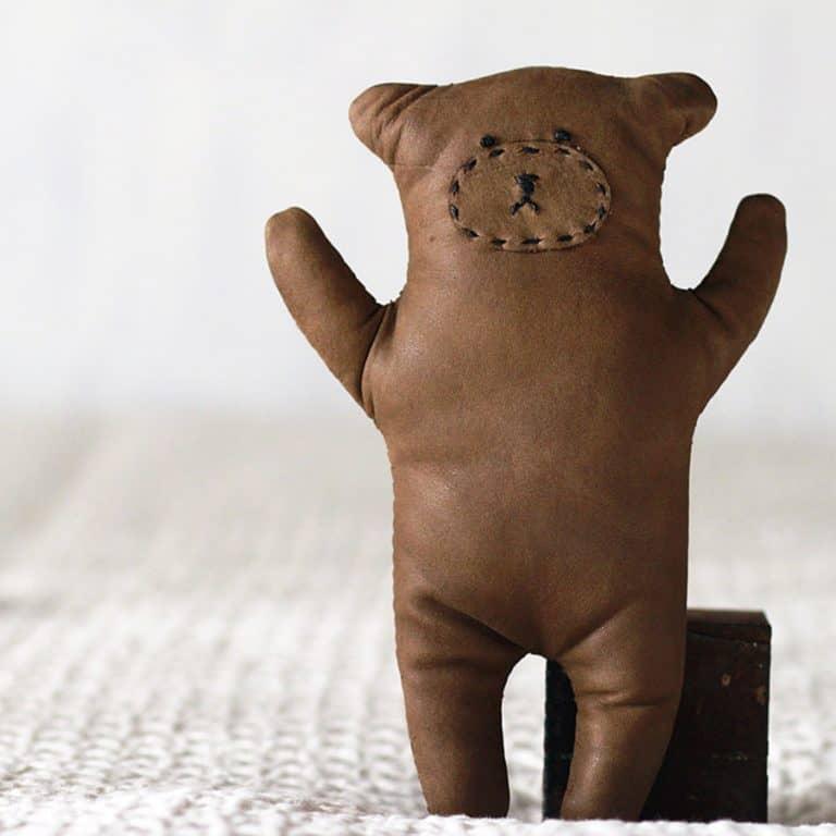 Seki Works Kuma Chan Leather Teddy Bear Toy