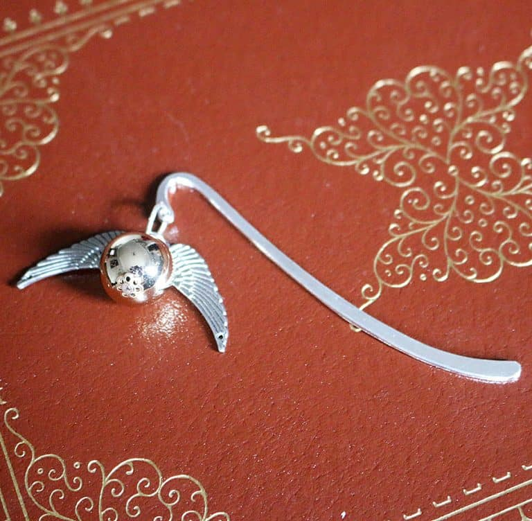 SteamWolf Golden Snitch Mini Metal Bookmark Silver Plated
