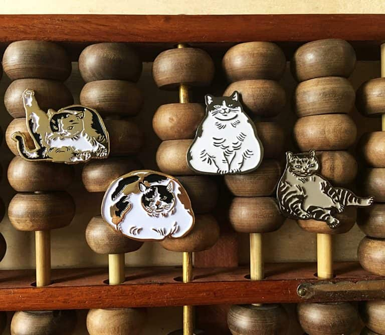Sustai Art Cat Enamel Pins Accessory