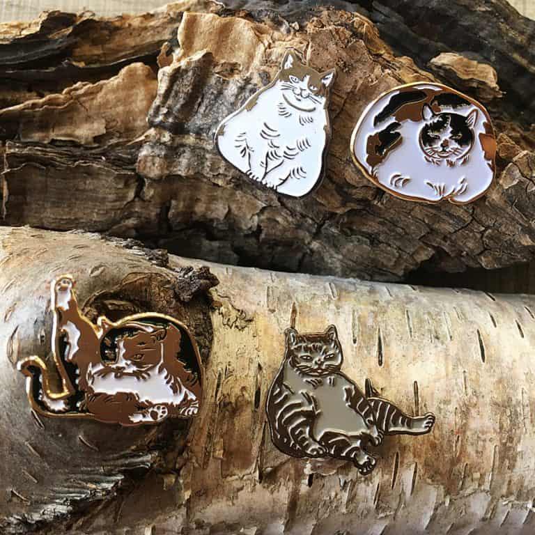 Sustai Art Cat Enamel Pins Cute Pin