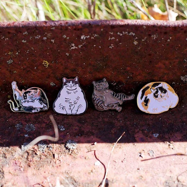 Sustai Art Cat Enamel Pins Novelty Item
