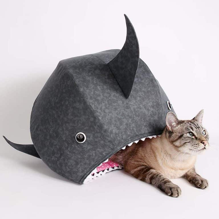 The Cat Ball Great White Shark Kitty Bed Pet Supplies