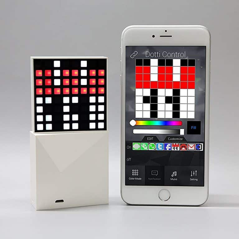 Witti Dotti Smart Pixel Art Light with Notifications for Smartphones Sync with Mobile Phones