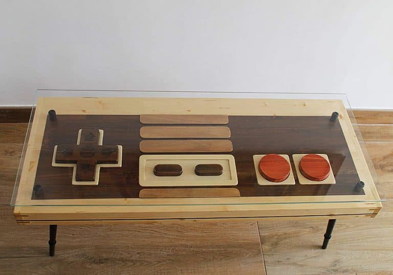 Artem Faber Design Nintendo Coffee Table Wall Art Fir Wood