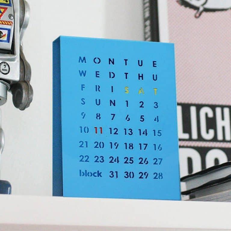 Block Perpetual Calendar Desk Calendar