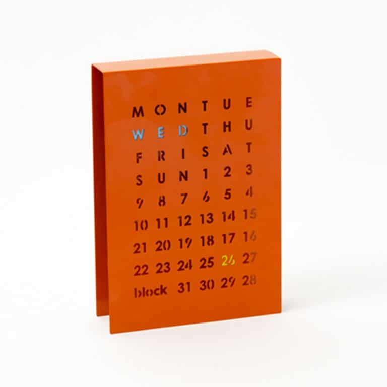 Block Perpetual Calendar Desktop Item