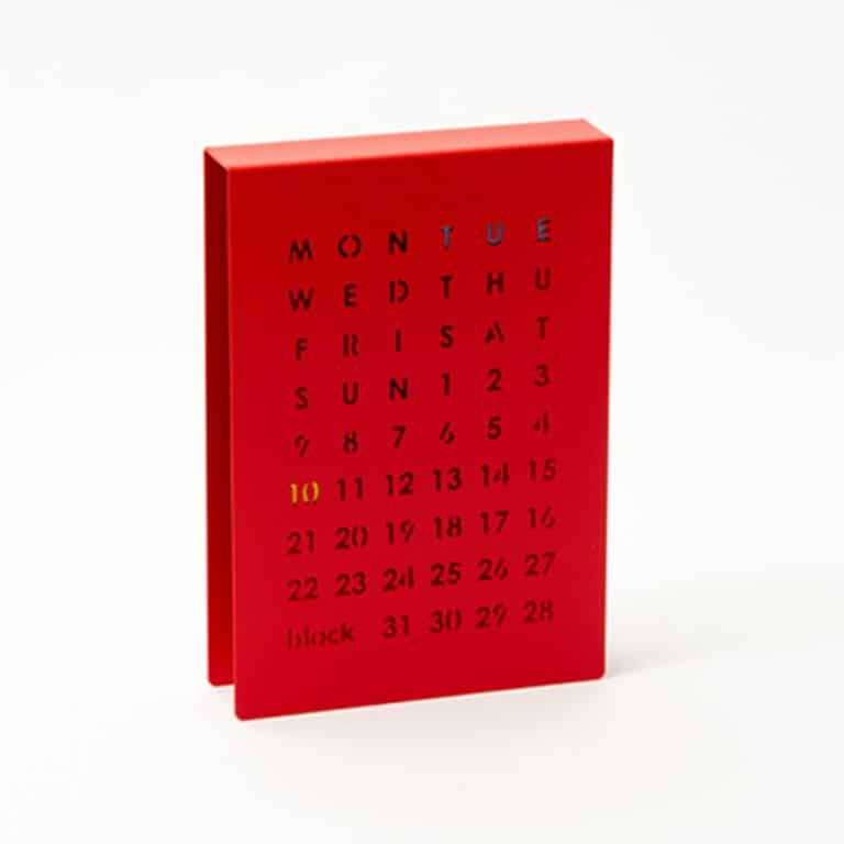 Block Perpetual Calendar Magnetic Indicators