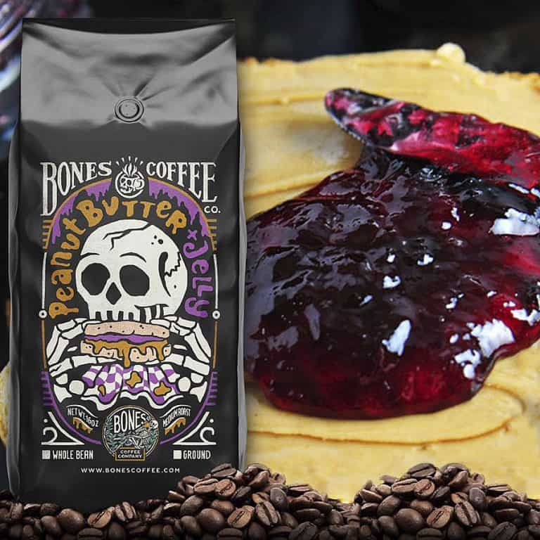 Bones Coffee Company Peanut Butter & Jelly Coffee Arabica Coffee