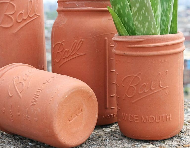 CAM Design Co. Terracotta Mason Jars Display