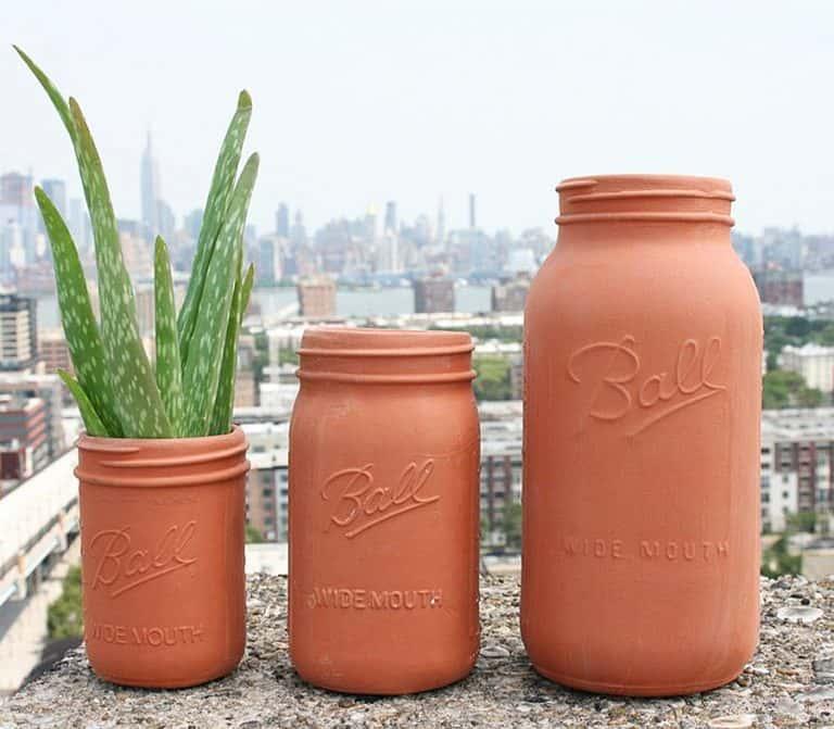 CAM Design Co. Terracotta Mason Jars Garden