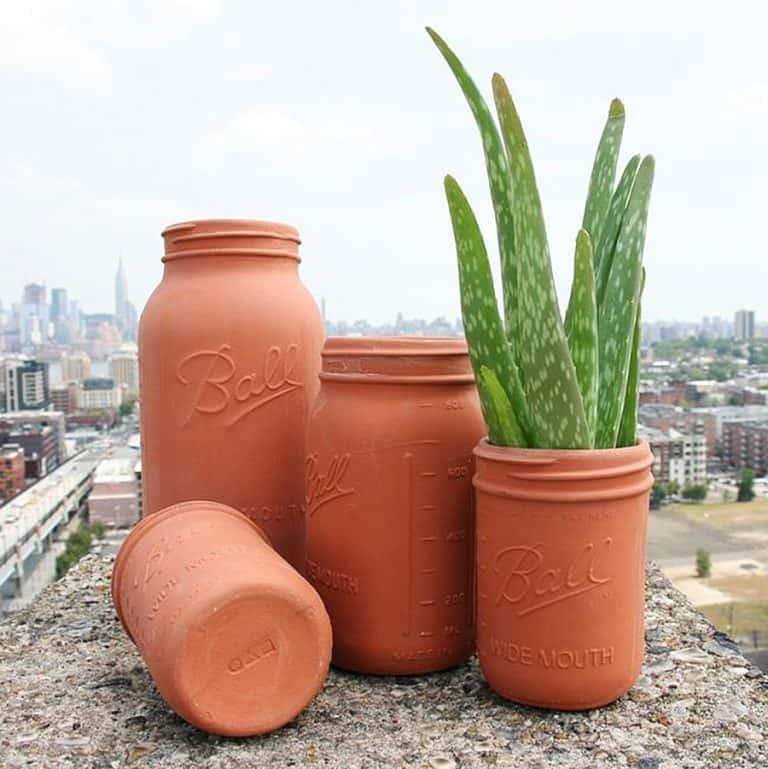 CAM Design Co. Terracotta Mason Jars Made to Order