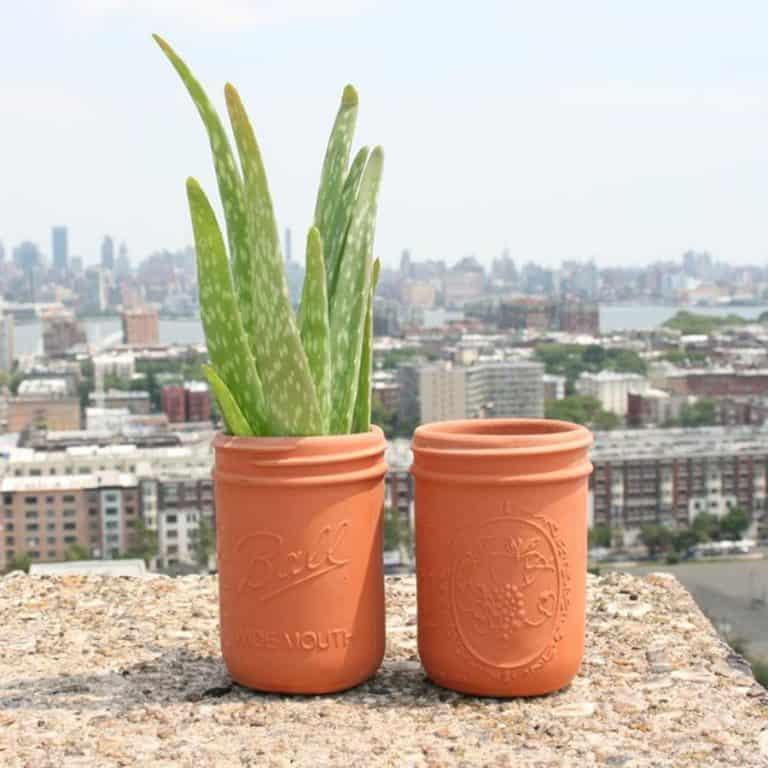 CAM Design Co. Terracotta Mason Jars Terracotta Slip Casting