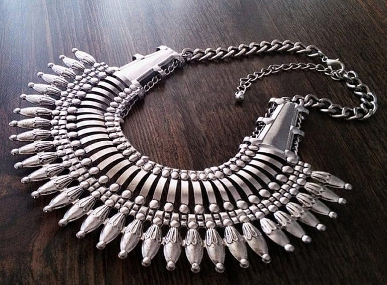 Canela de Plata Nepal Style Statement Necklace Necklaces