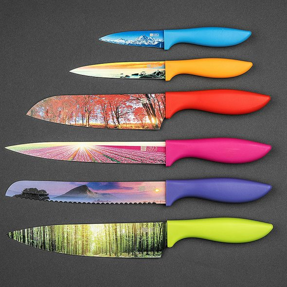 Chef's Vision Landscape Kitchen Knife Set Knives