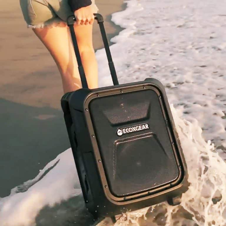 ECOXGEAR EcoBoulder Waterproof Outdoor Speaker Telescoping Handle