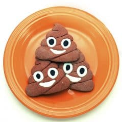 Make a plate full of poop.