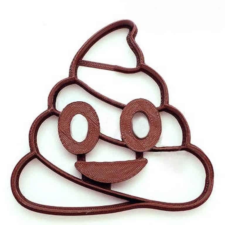 F4M Poop Emoji Cookie Cutter Dishwasher Safe