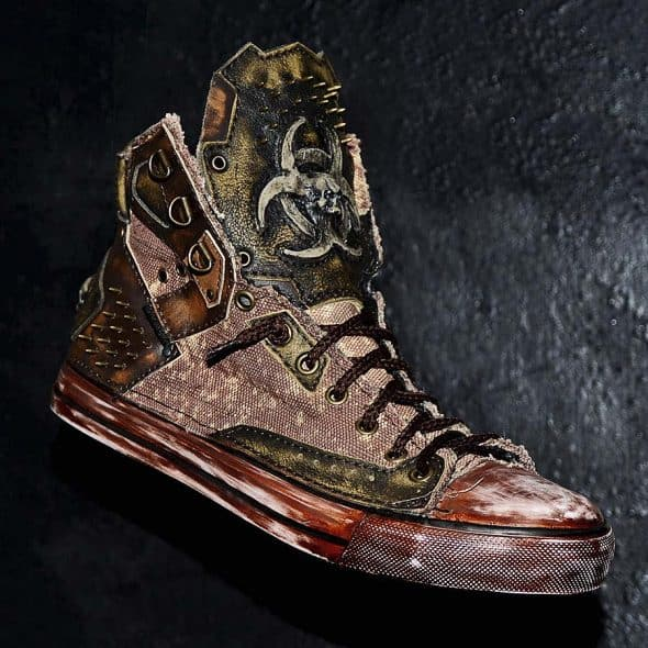 Family Skiners Custom Biohazard Sneakers Footwear