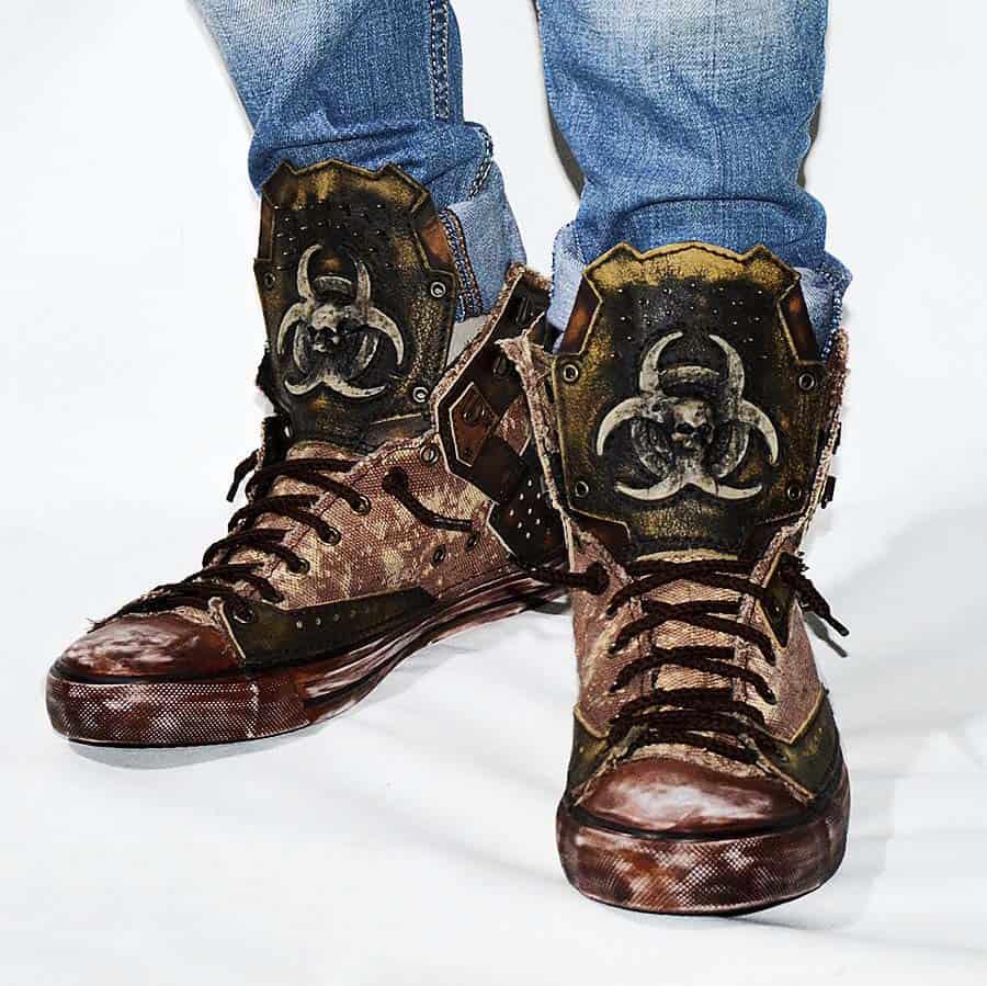 Family Skiners Custom Biohazard Sneakers Shoe