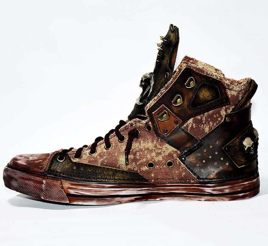 Family Skiners Custom Biohazard Sneakers Shoes