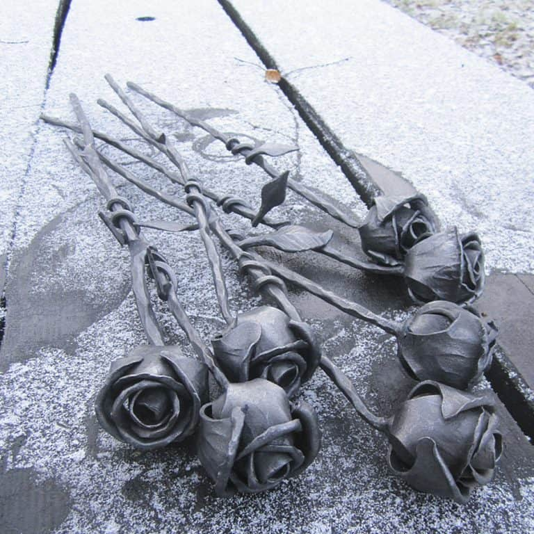 Frost Ferrum Forge Hand Forged Rose Flower