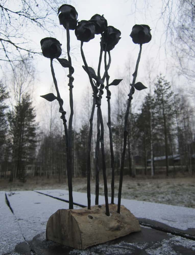 Frost Ferrum Forge Hand Forged Rose Handcrafted Item