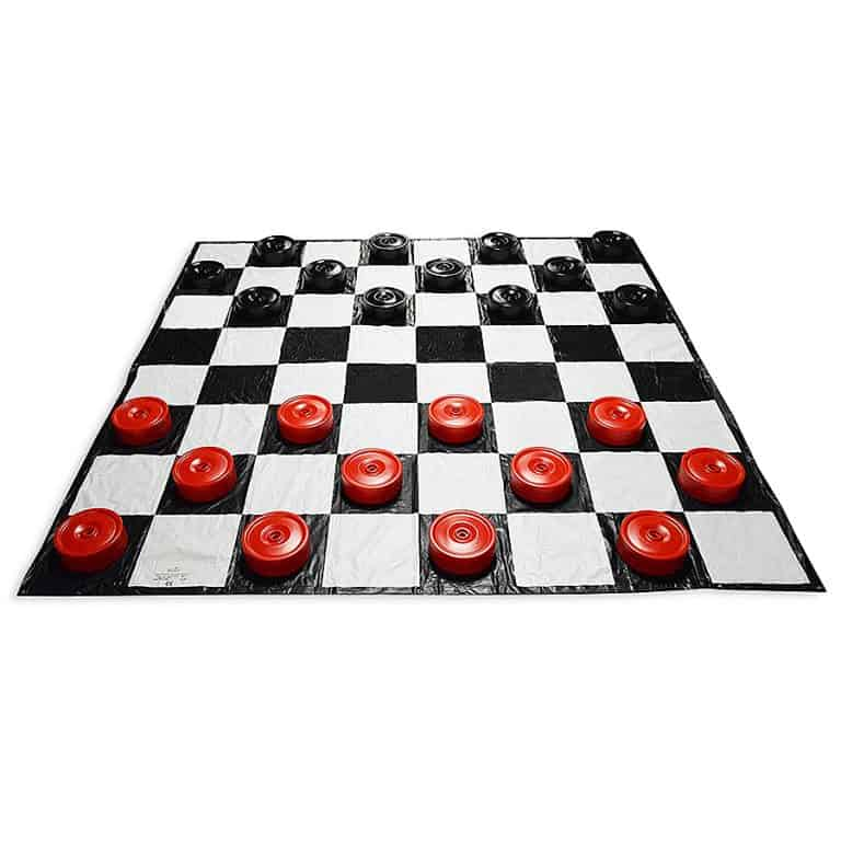 Garden Games Giant Checkers Set Lifesize