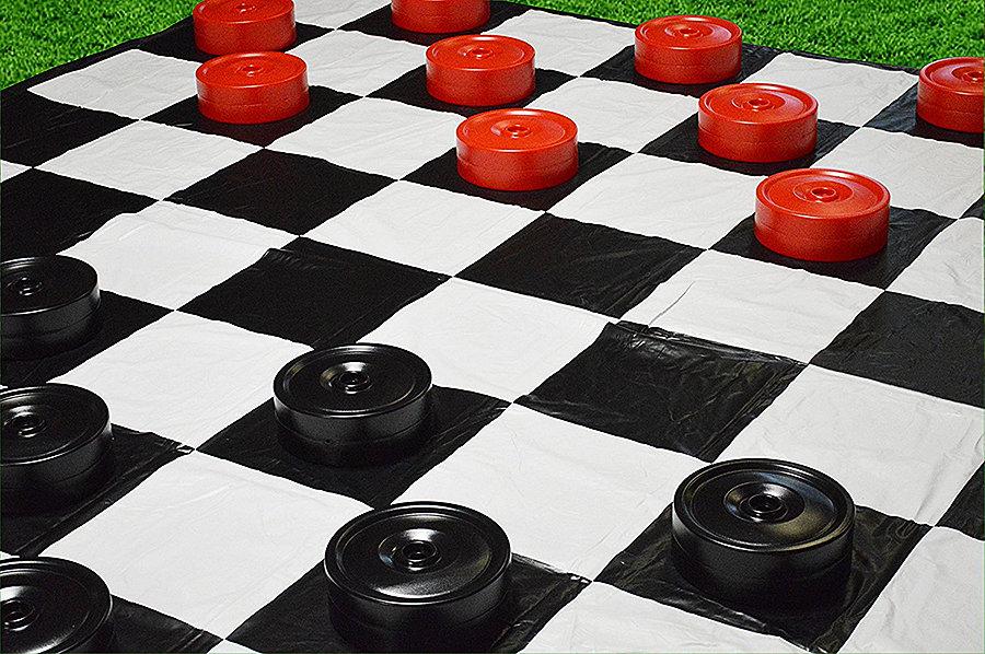 Garden Games Giant Checkers Set Waterproof
