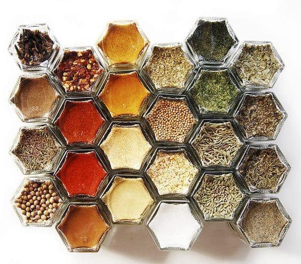 GneissSpice Hexagon Glass Spice Jars Storage