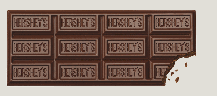 Hershey's 5 Pound Milk Chocolate Bar Unwrapped